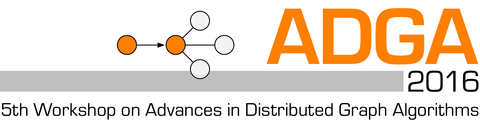 ADGA 2016: 5th Workshop on Advances in Distributed Graph Algorithms